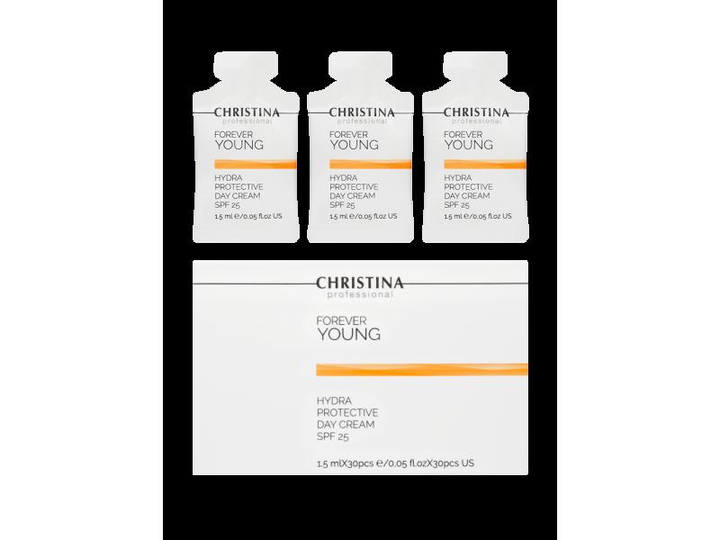 Дневной гидрозащитный крем SPF 25 в инд. саше 1,5 мл х 30 шт., 45 мл Forever Young-Hydra Protective Day cream SPF-25 sachets kit 30 pcs  Применение