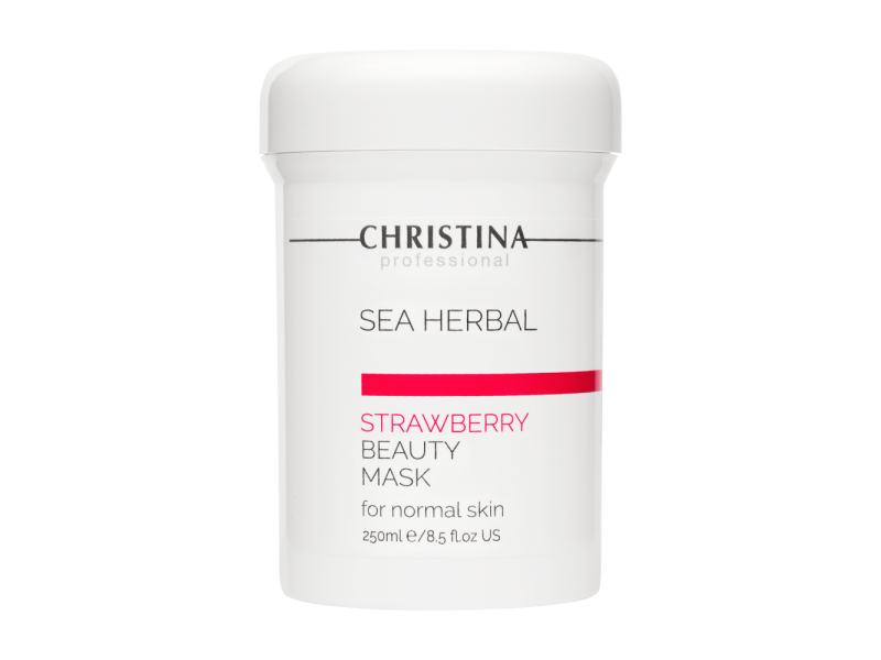 Маска красоты на основе морских трав для нормальной кожи «Клубника» 250 мл Sea Herbal Beauty Mask Strawberry for normal skin  Применение