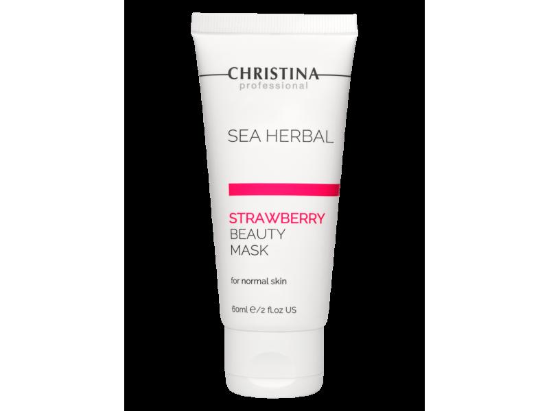 Маска красоты на основе морских трав для нормальной кожи «Клубника» 60 мл Sea Herbal Beauty Mask Strawberry for normal skin  Применение