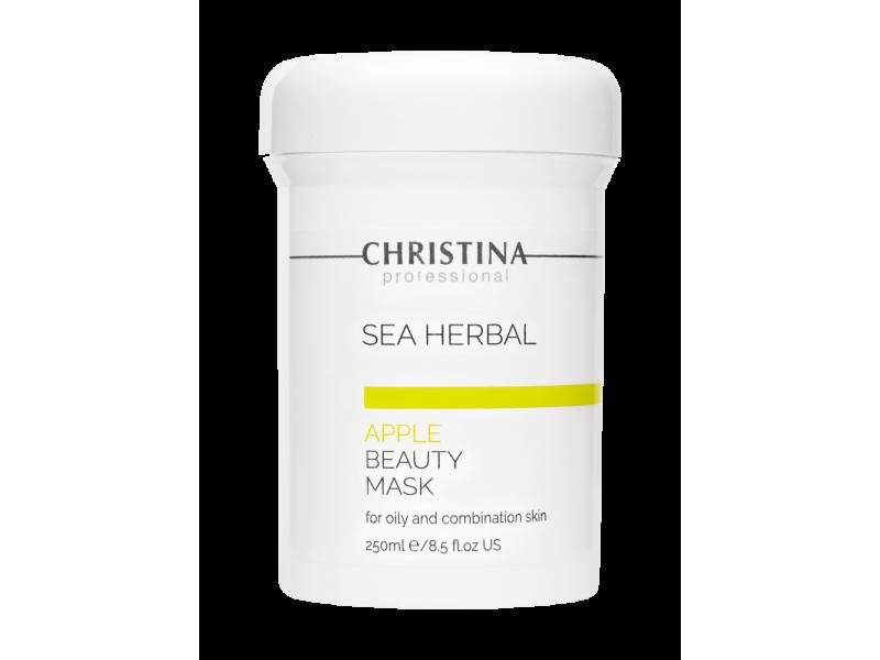 Маска красоты на основе морских трав для жирной и комбинированной кожи «Яблоко» 250 мл Sea Herbal Beauty Mask Apple for oily and combination skin  Применение